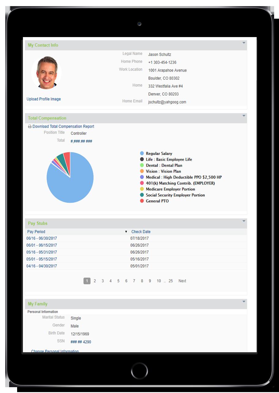 SyncHR Tablet Screenshot
